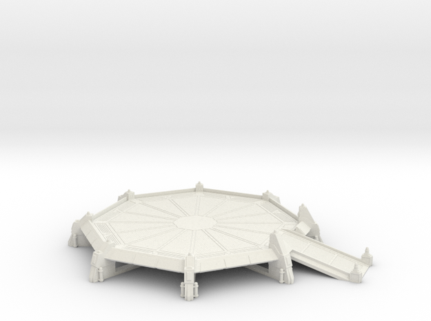 AnphelionBase_LandingPad in White Natural Versatile Plastic