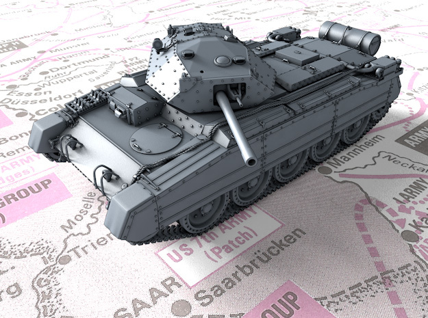 1/72 British Crusader Mk III Medium Tank in Smooth Fine Detail Plastic