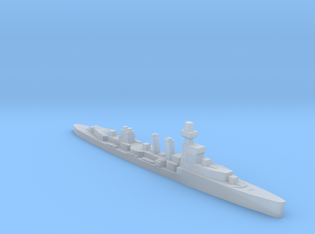 HMS Curlew 1939 1:2400 WW2 cruiser in Smoothest Fine Detail Plastic