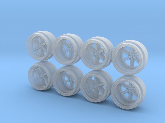 XT006R 8-6 Hot Wheels Rims in Smoothest Fine Detail Plastic