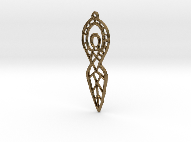 :Goddess Sketch: Pendant in Raw Bronze