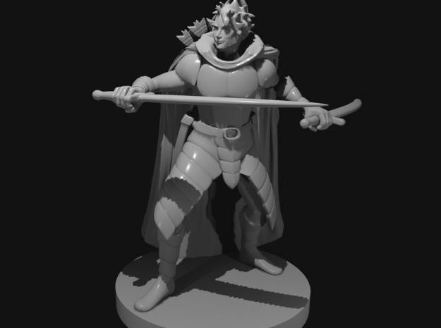 Human Male Two Sword Ranger in Smooth Fine Detail Plastic