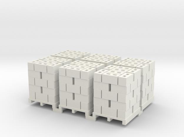 Pallet Of Cinder Blocks 5 High 6 Pack 1-87 HO Scal