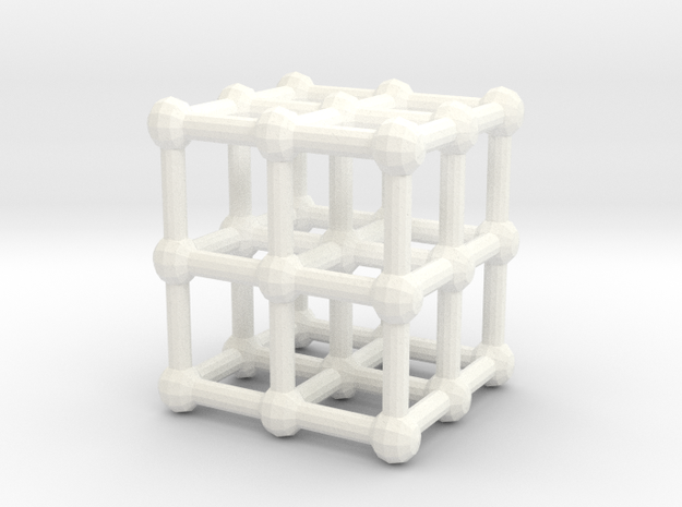 cube matrix in White Strong & Flexible Polished