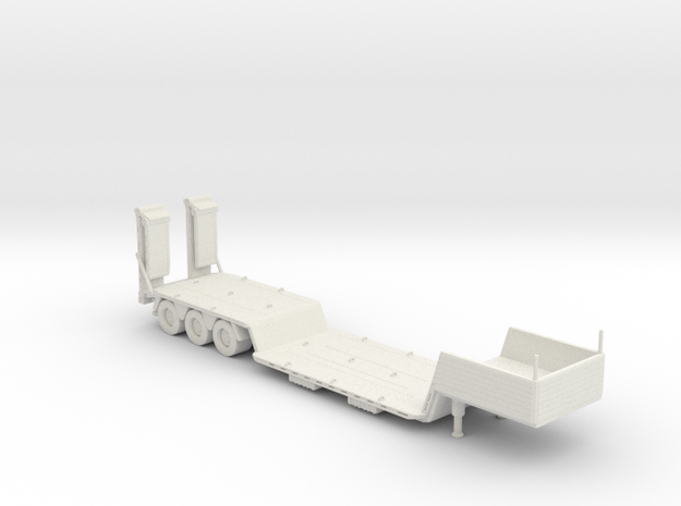 70's&80's fishbelly lowboy trailer 160 scale in White Natural Versatile Plastic