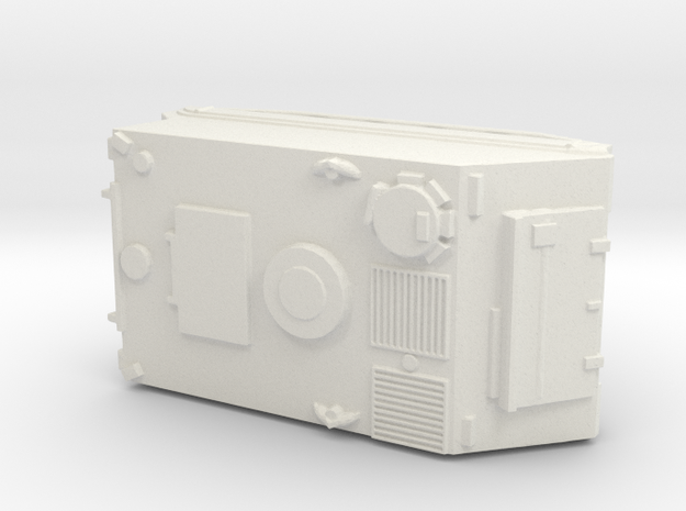 1:144 scale M113 APC in White Natural Versatile Plastic