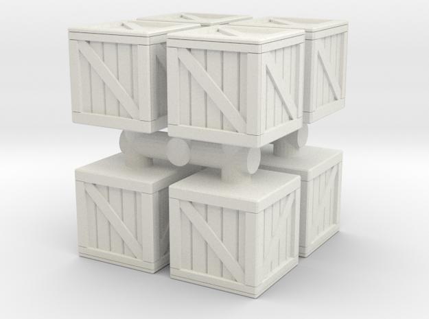 Wood crate prop (x8) 1/120 in White Natural Versatile Plastic