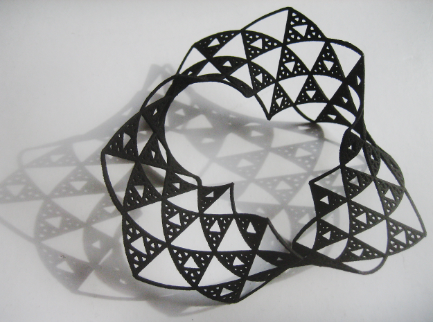 Sierpinski Triangle Mobius in Black Natural Versatile Plastic