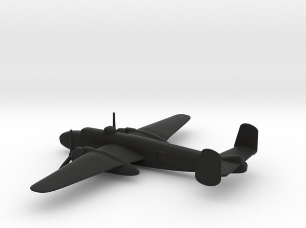 North American B-25J (w/o landing gears) in Black Natural Versatile Plastic: 1:200
