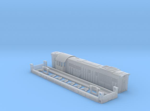 Chme 3 104mm long diesel locomotive ussr in Smoothest Fine Detail Plastic