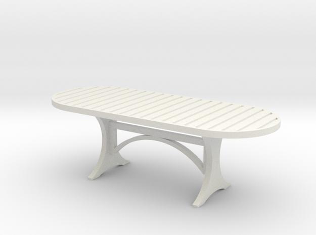 Tisch 1:32 in White Natural Versatile Plastic