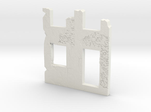 Building wall ruins 1.100 in White Natural Versatile Plastic