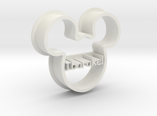 mickey in White Natural Versatile Plastic