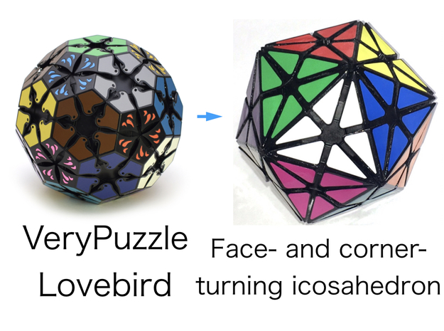 FACTI modified from VeryPuzzle Lovebird in White Natural Versatile Plastic