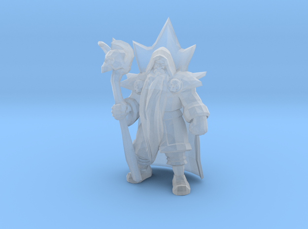 Wizard Warlock DnD 1/60 miniature for games rpg in Smooth Fine Detail Plastic