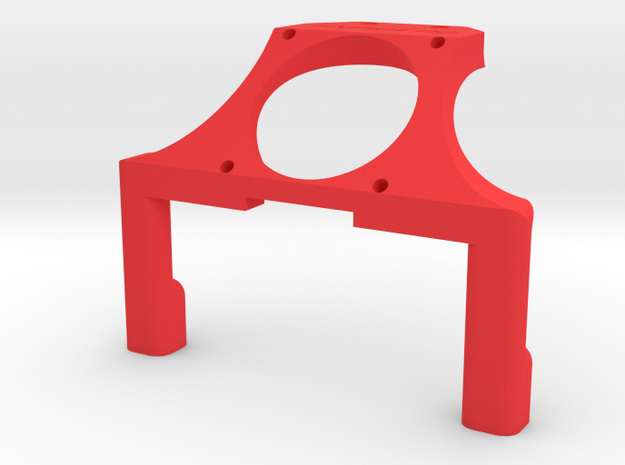 Rb6 Waterfall 30mm Fan in Red Processed Versatile Plastic