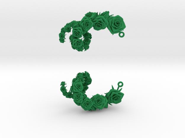 Rose Earrings 3d printed