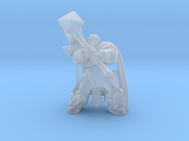 Uther Paladin Cleric DnD miniature for games rpg in Smooth Fine Detail Plastic