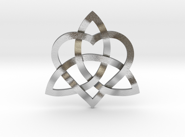 """Infinity Love pendant 1"""" in Natural Silver"""