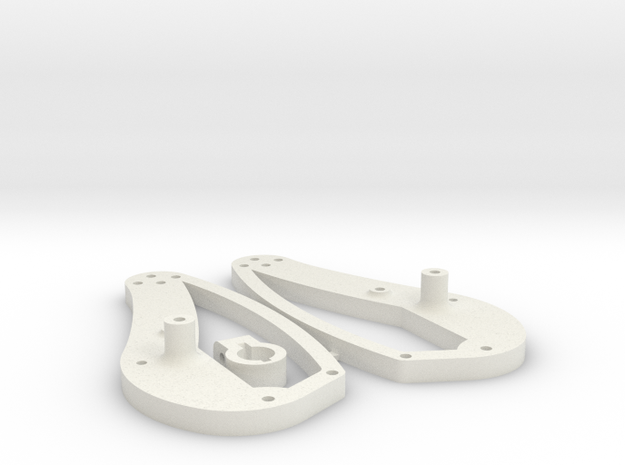 Stingray Chassis upgrade plates in White Natural Versatile Plastic