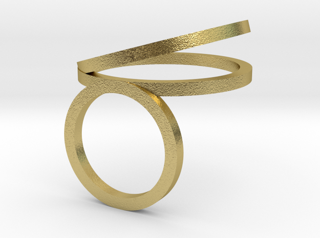 HOOLA_HOOP_ANEL_DIAMETER_16.5_MM_2_CIRCULOS in Natural Brass