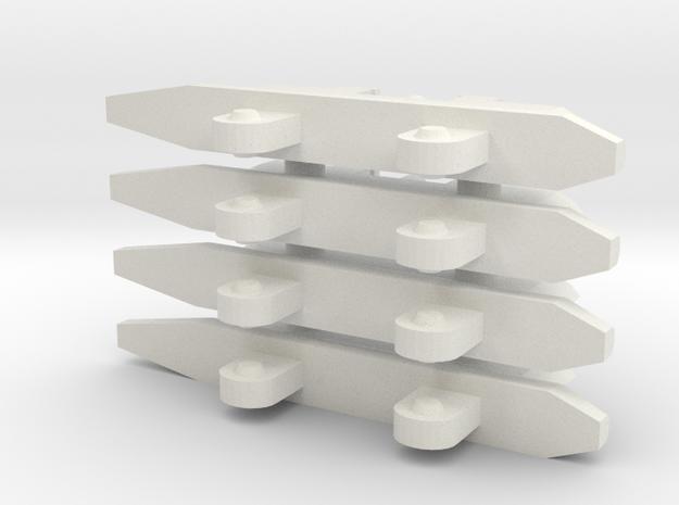 Single Missile Pylon x4 in White Natural Versatile Plastic