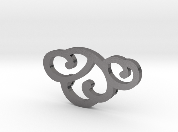 Cloud Pendant 3d printed