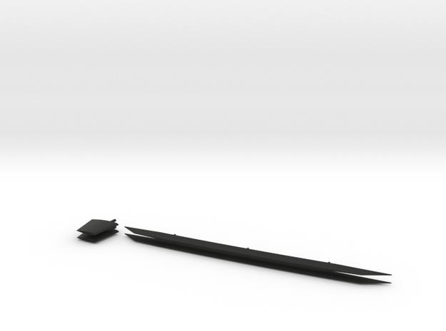 1/96 scale Nansen stabilizers in Black Natural Versatile Plastic