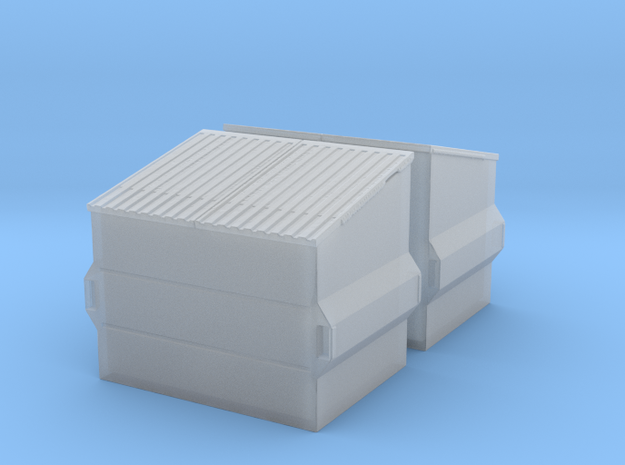 Dumpster (2 pieces) 1/76 in Smooth Fine Detail Plastic