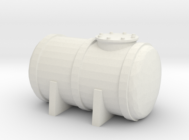 Petrol Tank 1/87 in White Natural Versatile Plastic