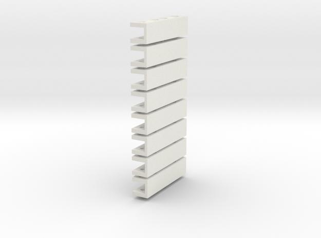 Beam Conn 8mm 8xa in White Natural Versatile Plastic