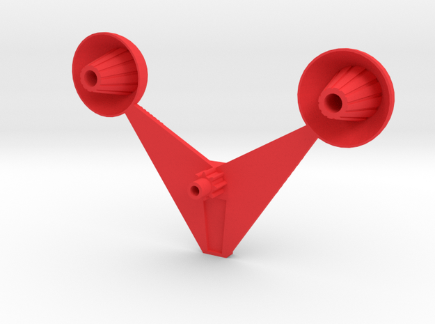 Mecha Acroyear Radar in Red Processed Versatile Plastic