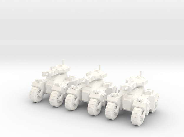 6mm - Microwave Assault Tank in White Processed Versatile Plastic