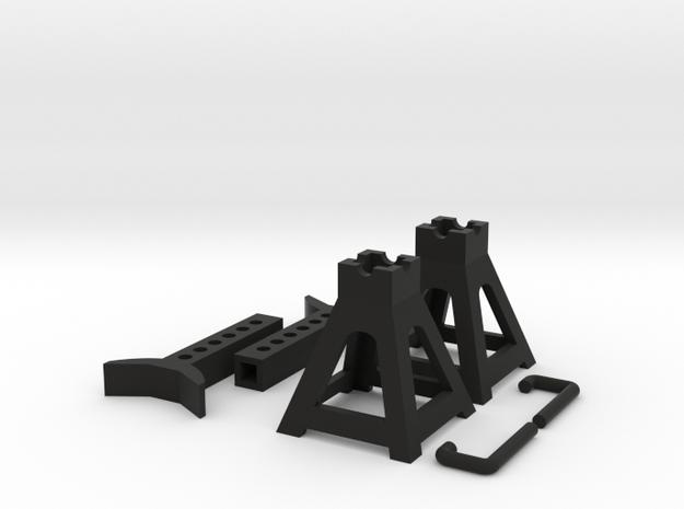 1:10 scale Jack stand in Black Natural Versatile Plastic