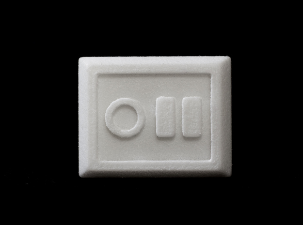 Not a Stormtrooper Ring (Size 9-10) in White Processed Versatile Plastic