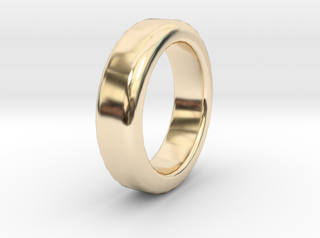 Simple Ring - Size A (UK) in 14K Gold