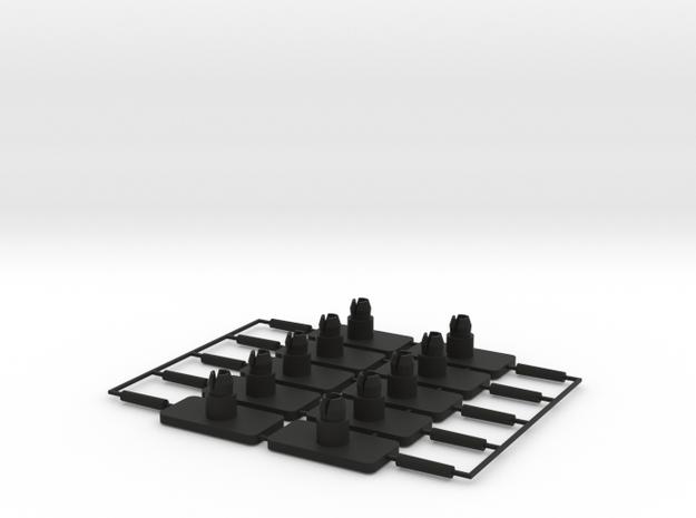 Rear Bumper Trim Clip Set for a Scirocco MK1 in Black Natural Versatile Plastic