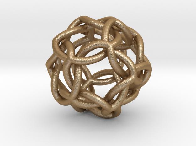 Icosahedral Knot thick 3d printed