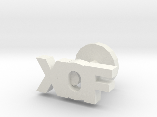 XOF cufflinks in White Natural Versatile Plastic