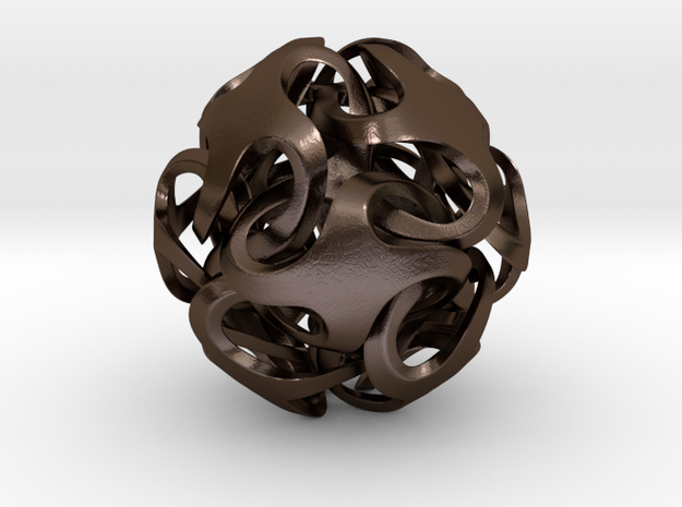 Rhombic Dodecahedron I, pendant 3d printed