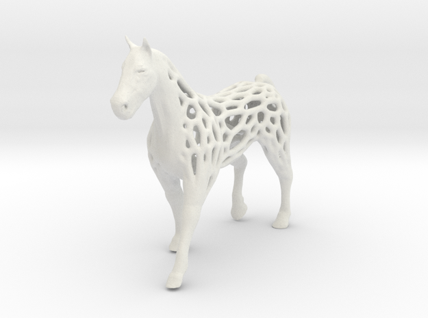 voronoi horse 2mm in White Natural Versatile Plastic