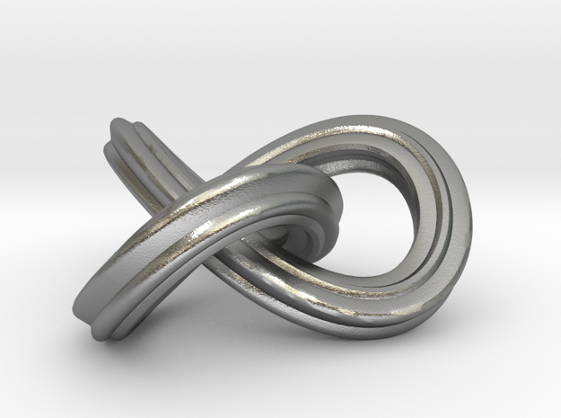trefoil_knot_pendant in Natural Silver