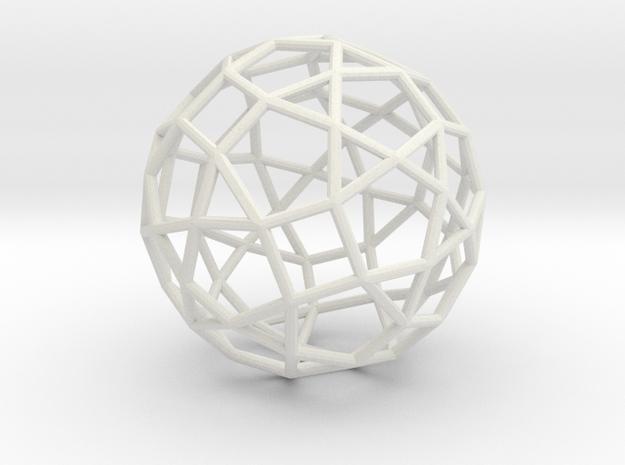 77hedron in White Natural Versatile Plastic
