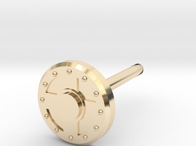 Warrior Shield Earring 5mm in 14K Yellow Gold