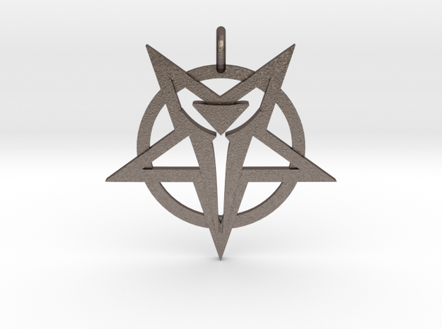 Talisman of Asmodeus in Polished Bronzed-Silver Steel