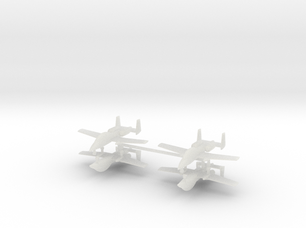 1/700 Two-Seater A-10 Thunderbolt II (Unarmed) (x4 in Smooth Fine Detail Plastic
