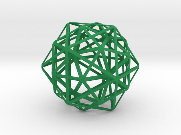 1st Stellation of an Icosidodecahedron 3d printed