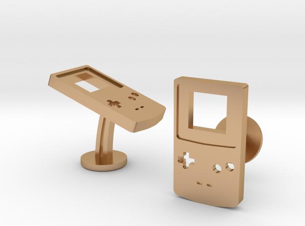 Nintendo GameBoy Color Cufflinks in Polished Bronze