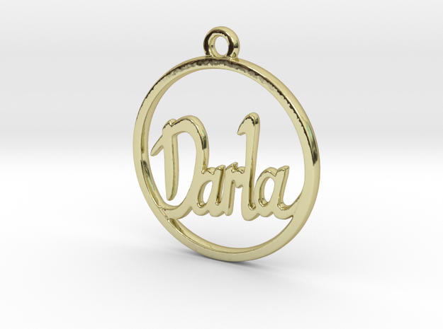 Darla First Name Pendant in 18k Gold Plated Brass