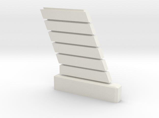 1:32 Viper Bay Wall (D) in White Natural Versatile Plastic